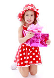 The girl with a gift Stock Image