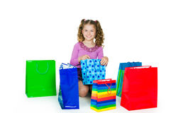 The girl and gift Royalty Free Stock Photos