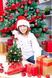 Girl with gifts Royalty Free Stock Photos