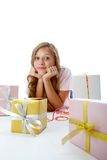 Girl and gifts Royalty Free Stock Photo