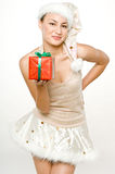 Girl and Gifts Royalty Free Stock Photos