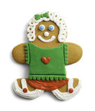 Girl Gingerbread Cookie Stock Photography