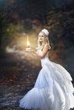 Girl in a wedding dress Stock Photos