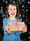 Girl giving present Royalty Free Stock Photography