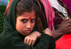 Girl giving a stern look at the camera. Indian girl giving a stern look at the camera Royalty Free Stock Photos