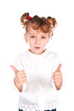 Girl giving thumbs up Royalty Free Stock Photography