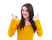 Girl Giving the Thumbs Up Stock Images