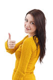 Girl Giving the Thumbs Up Stock Photography