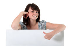 Girl giving the thumbs up Stock Photos