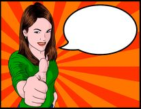 Girl Giving Thumbs Up Royalty Free Stock Photo
