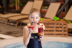 Girl with glass of coctail Stock Image