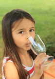Girl with glass Royalty Free Stock Photos