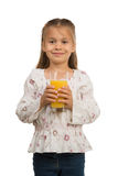 Girl with a Glass of Orange Juice Stock Image