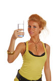 Girl with glass of water Royalty Free Stock Photography