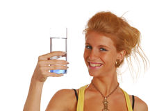 Girl with glass of water Stock Photo