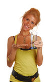 Girl with glass of water Stock Photos