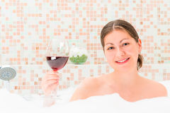 Girl with a glass of wine Royalty Free Stock Photography