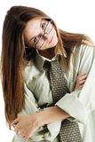 Girl in glasses Stock Photo