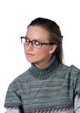 Girl in glasses Royalty Free Stock Photo
