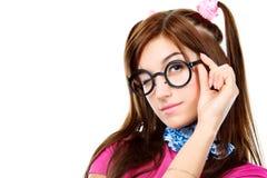 Girl in glasses Stock Photos