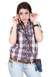Girl in glasses Stock Photography