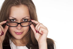 Girl with glasses Stock Photography
