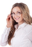 Girl with a glasses Royalty Free Stock Images
