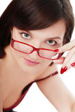 Girl in glasses Stock Image