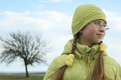 Girl with glasses Stock Photos