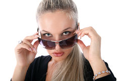 girl glasses Στοκ φωτογραφία με δικαίωμα ελεύθερης χρήσης