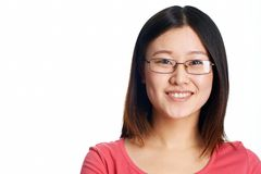 Girl in glasses Royalty Free Stock Images