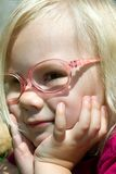 Girl with glasses Royalty Free Stock Photos