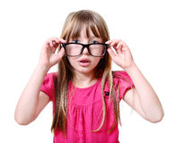 Girl with glasses. Royalty Free Stock Photography