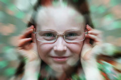 Girl in glasses. Stock Photography
