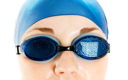 Girl in glasses for pool Stock Images