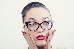 A girl in glasses Stock Image