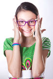 Girl with glasses Royalty Free Stock Image