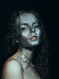 Girl in glitter Stock Photography