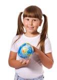 Girl with globe Stock Image