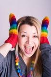 Girl with a glove Stock Photos