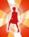 Girl Glow. Silhouette of young Woman / Girl with Glow & Abstract Background Royalty Free Stock Photography