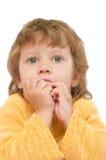 Girl gnaws cookies Stock Photo