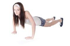 Girl go in for sport Stock Images