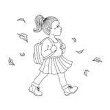 Girl go to school. Stock Photography