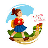 Girl go to school. Stock Images