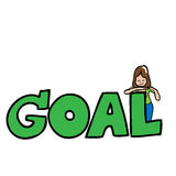 Girl and goal Stock Photos