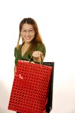 Girl goes shopping Royalty Free Stock Image