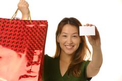 Girl goes shopping Royalty Free Stock Photography