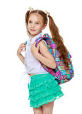Girl goes to school Stock Image