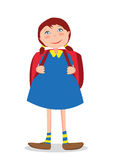 Girl goes to school Royalty Free Stock Photos
